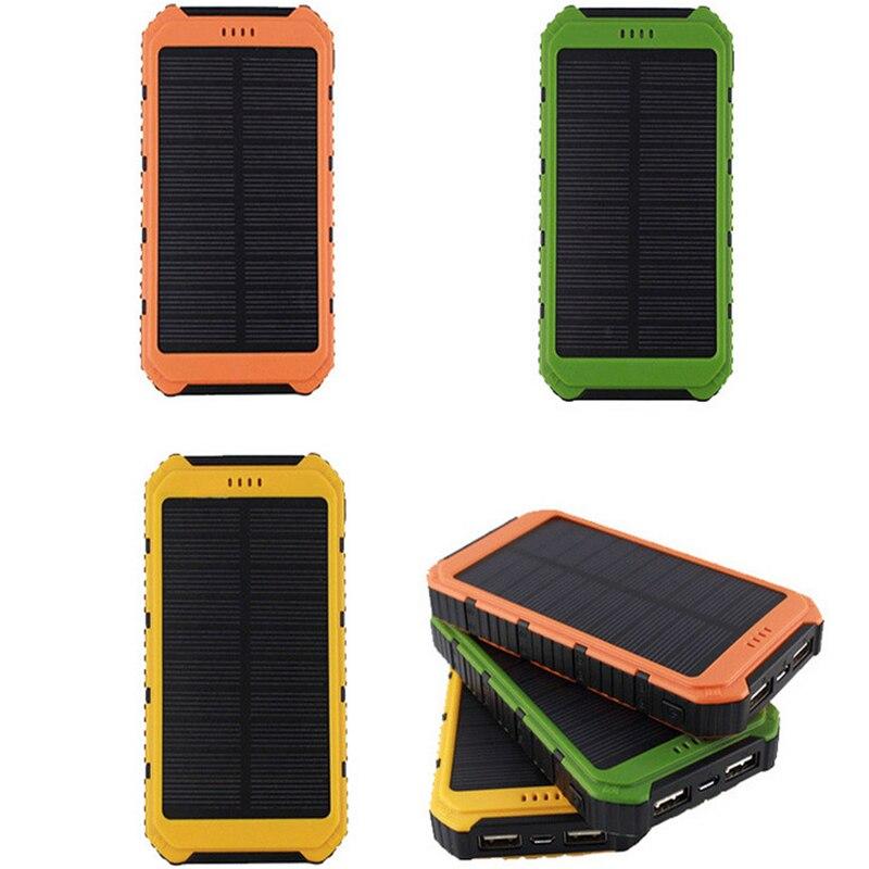 Portable Cellphone Solar font b Power b font font b Bank b font 10000 mAh DUAL