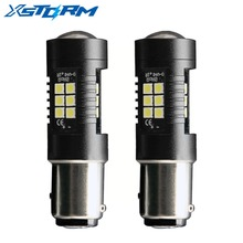 2Pcs 1157 BAY15D Led Bulb P21/5W 21 3030SMD Auto Leds Bulbs Brake Tail Lamp Car Backup light 12V 24V White Yellow Amber Red(China)