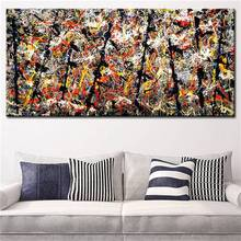 Pollock S Number 11 Artwork Abstract Oil Painting Print Canvas Top Idea Decor Wall Art For Wall Painting No Framed GIFT