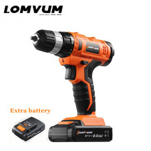 21Voltage Manual Electric Screwdriver Home Cordless charging Drill bits Lithium Battery*2 hand Electric drill Can stand tools