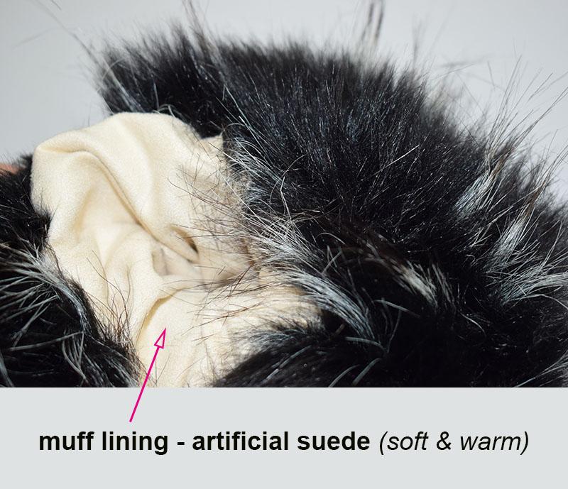fur handmuff lining