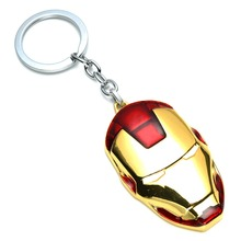 QY Film Avengers Ironman Mask Metal Alloy Keychains Love Key Holders For Men Best Friends Sleutelhanger Porte Clef Anime Jewelry