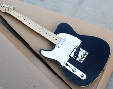 Factory Wholesale Left-hand Blue Body Electric Guitar with White Pickguard, Maple Fret Board,Offer Customized