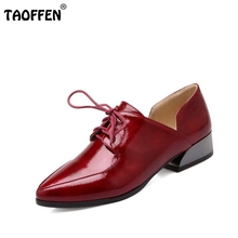 ladies leisure casual flats shoes patent leather lady loafers sexy spring women brand footwear size 34-43 P16131 - TAOFFEN store