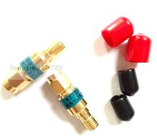 2 Pcs Gold plated RF Coax 2W DC-6GHz SMA Type Male to Female coaxial fixed attenuator connector(China)