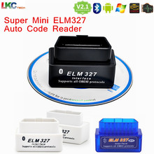 200pcs/lot Latest Version V2.1 Super MINI ELM327 Bluetooth OBD/OBD2 ELM 327 Car Diagnostic Interface Works ON Android Torque/PC