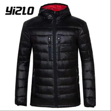 yizlo winter jacket ultra light duck down jacket men designer lightweight jackets duck down jacket men(China)