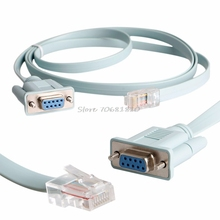 Cat5e RJ45 CAT6 to RS232 DB9 Console Ethernet Cable Adapter for Router Network Z09 Drop ship(China)
