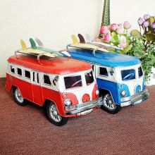 mini lovely classic collectible bus model car old car model toys for children with two color available red and blue kids gift(China)