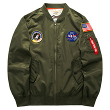 2017 Asstseries Nasa bomber Jacket men Women Pilot MA1 man Coat hombre Flight Air Force Baseball army green Kanye West jacket