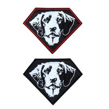 Dog Embroidered Iron On Patches For Clothes Motorcycle Jacket Biker Vest Badges Patches DIY Accessory