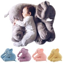 Baby Pillow Elephant Feeding Cushion Children Room Bedding Decoration 53cm Bebe Bed Crib Car Seat Kids Plush Toys Christmas Gift(China)
