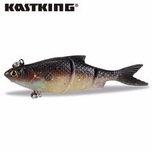 KastKing 1PC 104mm 16.5g Handmade Soft Bait Fish Fishing Lure Shad Manual Silicone Bass Minnow Bait Swimbaits Plastic Lure Pasca