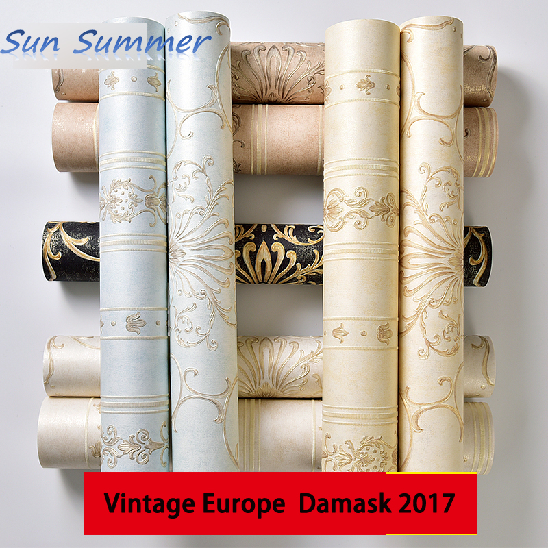 europe vintage damask A and striped B textured wallpaper 3d living room wallpaper <br>