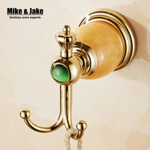 New Design golden ceramic Robe Hook,Clothes Hook,Solid Brass Golden finish bath hardware accessory home decoration
