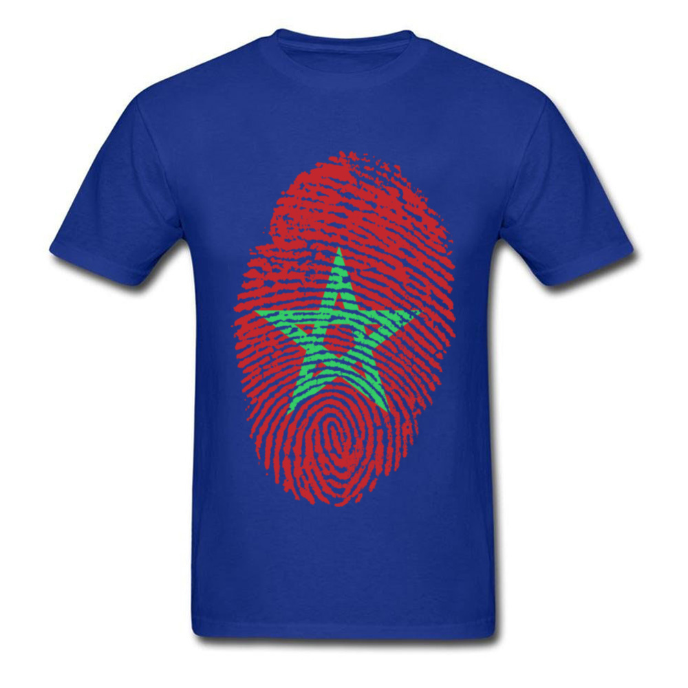Morocco Flag Fingerprint_blue