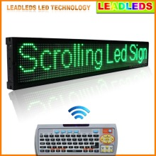 40x6.3 Inches LED Light Animated Neon Sign IR Remote Control Programmable LED Scrolling Sign Green Message Outdoor Advertising