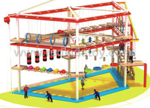 China Manufacturer of Rope Development Playground Set Exported to Malta HZ-060-1