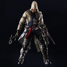 27cm Assassin's Creed III Connor Kenway Play Arts Kai PVC Action Figure Toys Collectors Model With Box
