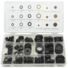 125pcs Black Ring Rubber Grommets Assortment Sealing Gasket Kit Car Truck Boat