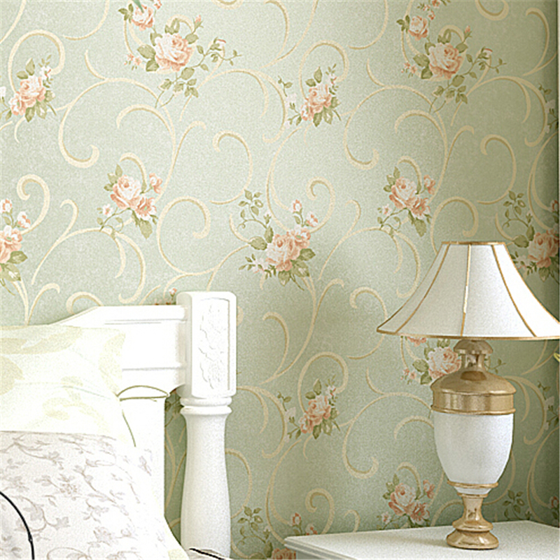beibehang Vintage Feminine Floral Bouquet wallpaper rolls Flower Trail Floral Wall paper 3D design effect home gorgeous decor<br>