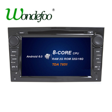 For Opel Astra H G J Vectra Antara Zafira Corsa RK3688 Android 6.0 octa core Car 2 din dvd player GPS Radio RAM 2G 16G/32G