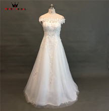 Buy QUEEN BRIDAL 2018 Real Photo Wedding Dresses A-line Floor Length Lace Pearls Beading Formal Wedding Gowns Vestido De Noiva JW91 for $85.98 in AliExpress store