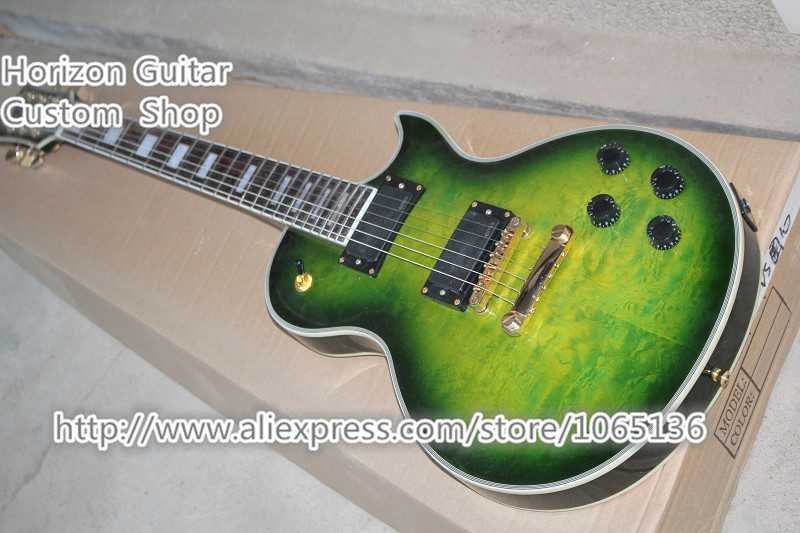 China OEM Musical Instrument LP Custom Electric Guitar Quilted Maple Grains & Unfinished Guitarra & Kit Available(China (Mainland))