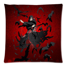 "18*18"" Naruto_Sharinga Of Uchiha Itachi Polyester Cushion Cover Sofa Decorative Throw Pillowcase Home Chair Car Seat Pillow Case"