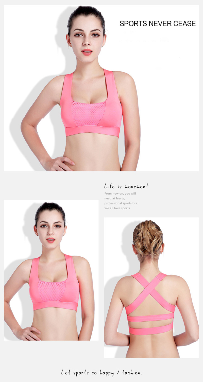 Women Cross Design Sports Bra Push Up Shockproof Vest Tops with Padding for Running Gym Fitness Jogging Yoga Shirt (15)