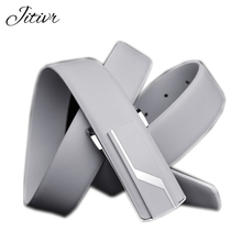 Hot Sale 2017 Men's Genuine Leather Belt Men Fashion Belts For Man White Strap Designer Cowhide Waistband Pants Accessory
