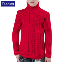 2017 Children Autumn Winter Sweater Baby Boys Girls Knitted Colid Color Turtleneck Pullover Warm Outwear Kids Thicken Tops Wear