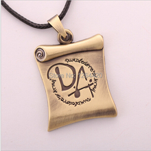 Free Shipping Movie Harry DA Reel Flag Pendant Necklace High Quality Vintage Bronze Pendant For Women&Men 2pcs/lot(China)