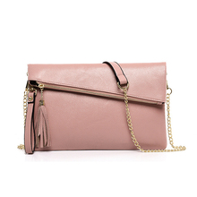 2016 New Fashion Woman Chain Shoulder Bag Promotional Ladies Luxury PU Leather Crossbody Bags Women Envelope  Handbags