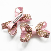 100pcs/lot Giraffe Bitty Bow Bitty Bow Hair Bows Hairbows Accessories Free Shipping(China)