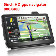 New 5 inch HD Car GPS Navigation CPU 800MHZ FM/8GB/DDR3 2016 Maps For Europe/USA+Canada TRUCK Navi Camper Caravan(China)