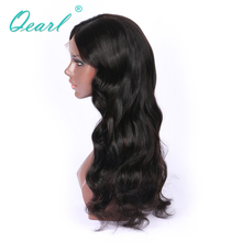 Qearl Virgin Hair Lace Front Wigs For Black Women+Pre-Plucked Hairline Brazilian Body Wavy Remy Natural Hair lace Wigs(China)