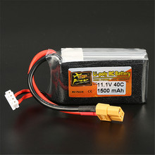 In Stock Lipo Battery ZOP Power 11.1V 1500mAh 40C 3S Lipo Battery XT60 Plug For RC Models(China)