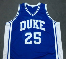 ART HEYMAN DUKE Devils Blue Basketball Jersey Embroidery Stitched Customize any size and name