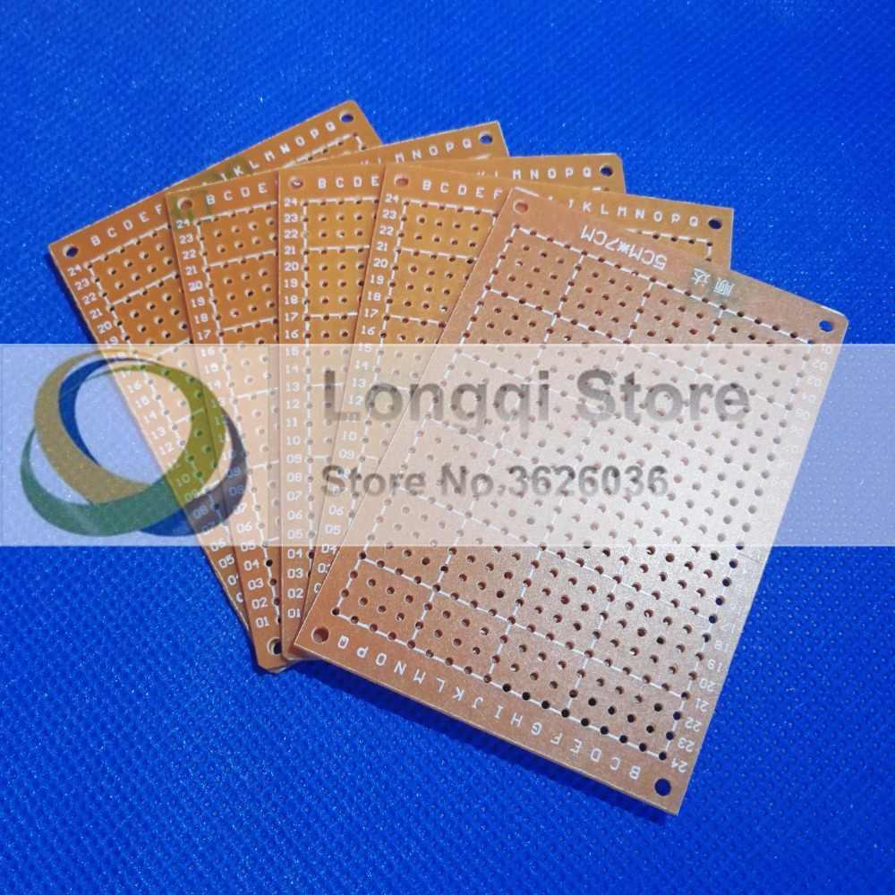 5Pcs 5cm  x 7cm DIY Prototype Paper PCB for Universal Board prototyping pcb kit