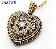 JASTER Jewelry usb flash drive usb 2.0 Pendrive 8GB/32GB love heart usb stick Memory stick Fashion necklace girl's gifts