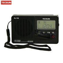Tecsun PL118 Mini-size Featherlight Digital PLL Synthesized & DSP (Digital Signal Processing) FM Clock Radio with ETM(China)