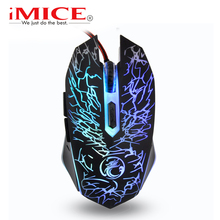 imice Mice Wired Gaming Mouse USB Gamer mouse 6 Buttons 3600 dpi Optical LED gaming mouse For Desktop Home Office Use(China)