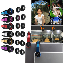 Original Universal long Clip 3 in 1 Fish Eye Wide Angle Macro Fisheye Mobile Phone Lens For iPhone 6 5 5S 4 4S Samsung HTC Nokia