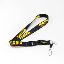 60cm MOMO Lanyard Auto Key Chain Key Ring Mobile ID Card Hanging Strap Fabric Seat Fabric Canvas Lanyard(China)