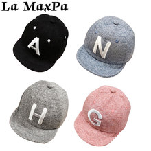 Zomer Herfst Brief Baseball Baby Caps Baby Boy Meisjes Verstelbare Snapback Caps Hip Hop Baby Boy Hoeden Zonnehoed Baby accessoires(China)