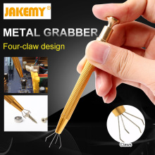 Jakemy Metal Grabber,Powerful Four Claw Paws Parts IC Chip Grabber Maintenance Tool Pick Up Tools Gripping Device JM-T8-11(China)