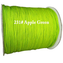 1.5mm Apple Green Rattail Satin Braid Nylon Cord+Jewelry Accessories Macrame Rope Shamballa Bracelet Beading Cords 200m/Roll(China)