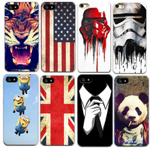 American flag Star Wars For iPhone 7 6 6S 5 5S SE Cover Case Shell Mobile Phone Bag Accessory For iPhone7 6 6S SE 5S 5(China)