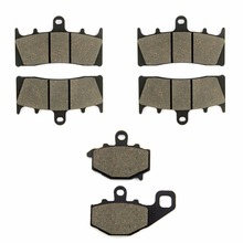 SOMMET Motorcycle Front + Rear Brake Pads Disks for Kawasaki ZZR 600 (ZX 600 J4/J6F-J8F) (05-08) ZZR600 ZX600